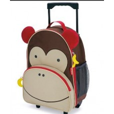 Zoo Kids Rolling Luggage - Monkey