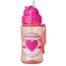 Forget Me Not Straw Bottle - Heart Stripe