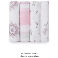 Classic Swaddles- For The Birds 4pk