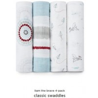 Classic Swaddles- Liam The Brave 4pk