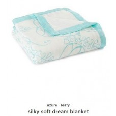 Silky Soft Dream Blanket- Azure- Leafy