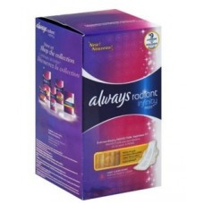 Always Radiant Infinity Heavy Flow With Wings, Scented Pads 28 Count