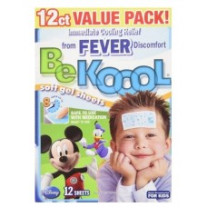Be Koool Disney Characters Fever Relief Soft Gel Sheets 12 Count