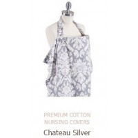 PREMIUM COTTON NURSING COVERS Chateau Silver