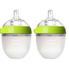 Comotomo Silicone Bottle 5oz (2 Pack) GREEN