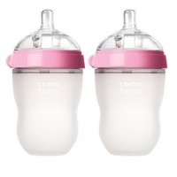 Comotomo Silicone Bottle 8oz (2 Pack) PINK