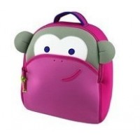 DABBAWALLA Pink Monkey Backpack