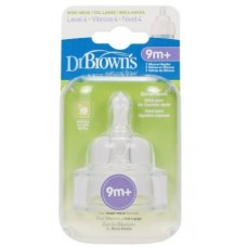 Dr. Brown's 2 Pack Natural Flow Level 4 Wide Neck Nipple