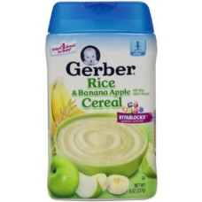 Gerber Baby Cereal Rice, Banana Apple