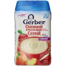 Gerber Oatmeal and Peach Apple Baby Cereal