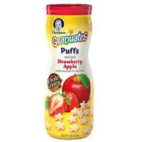 GERBER® GRADUATES® Puffs Strawberry Apple