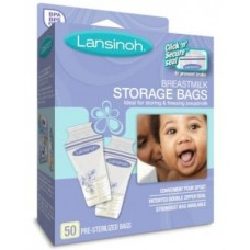 LANSINOH BREASTMILK STORAGE BAGS 50 CT