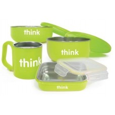 THE COMPLETE BPA FREE FEEDING SET (LT GREEN)