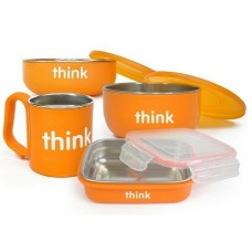 THE COMPLETE BPA FREE FEEDING SET (ORANGE)