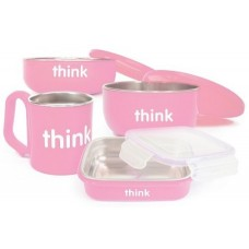 THE COMPLETE BPA FREE FEEDING SET (PINK)