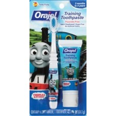 Orajel™ Thomas Fluoride-Free Training Toothpaste & Toothbrush Combo Pack