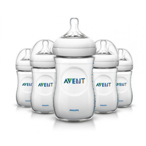 9 Ounce Philips Avent BPA Free Natural Polypropylene Bottle 2 Count