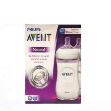 Philips Avent BPA Free Natural Polypropylene Bottle, 11 Ounce, 2-Count